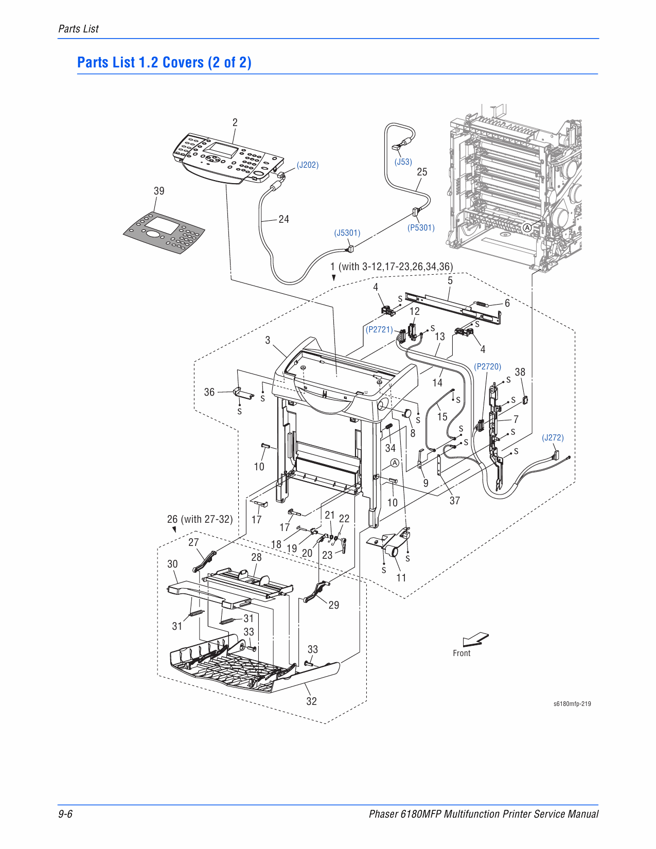 Xerox Phaser 6180 Mfp Parts List And Service Manual